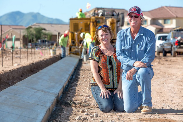Gwen and David Doulos Concrete Inc Founders