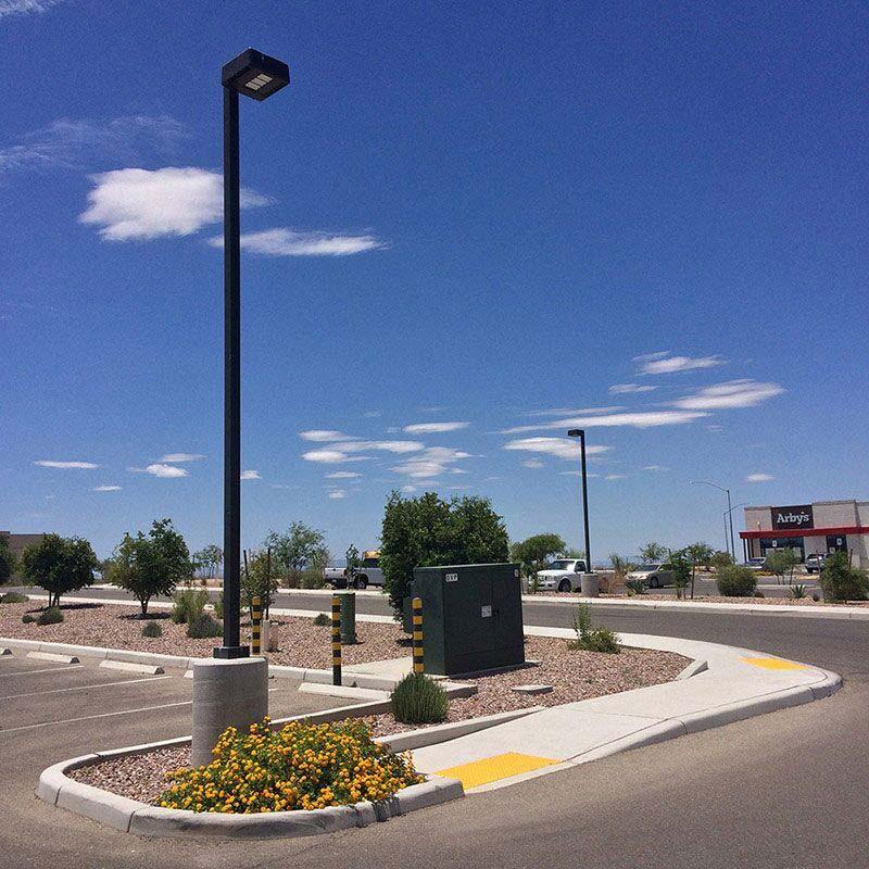 Doulos Concrete Light Pole Base Handicap Ramp Curb Sidewalk