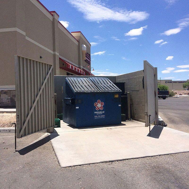 Doulos Concrete Trash Enclosure