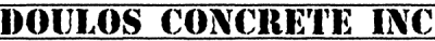 Doulos Concrete Inc Logo